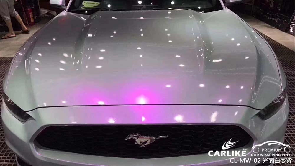 珠光幻彩光面白变紫汽车改色膜贴车效果图