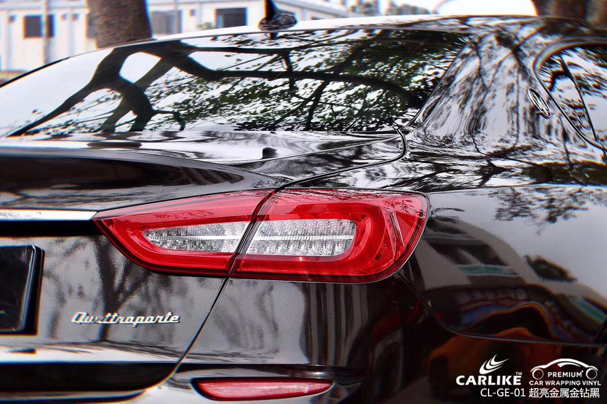 CARLIKE卡莱克超亮金属金钻黑汽车改色贴车效果图