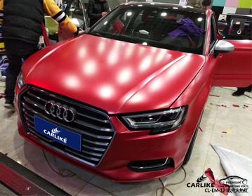 卡莱克电光火热红汽车改色膜效果图