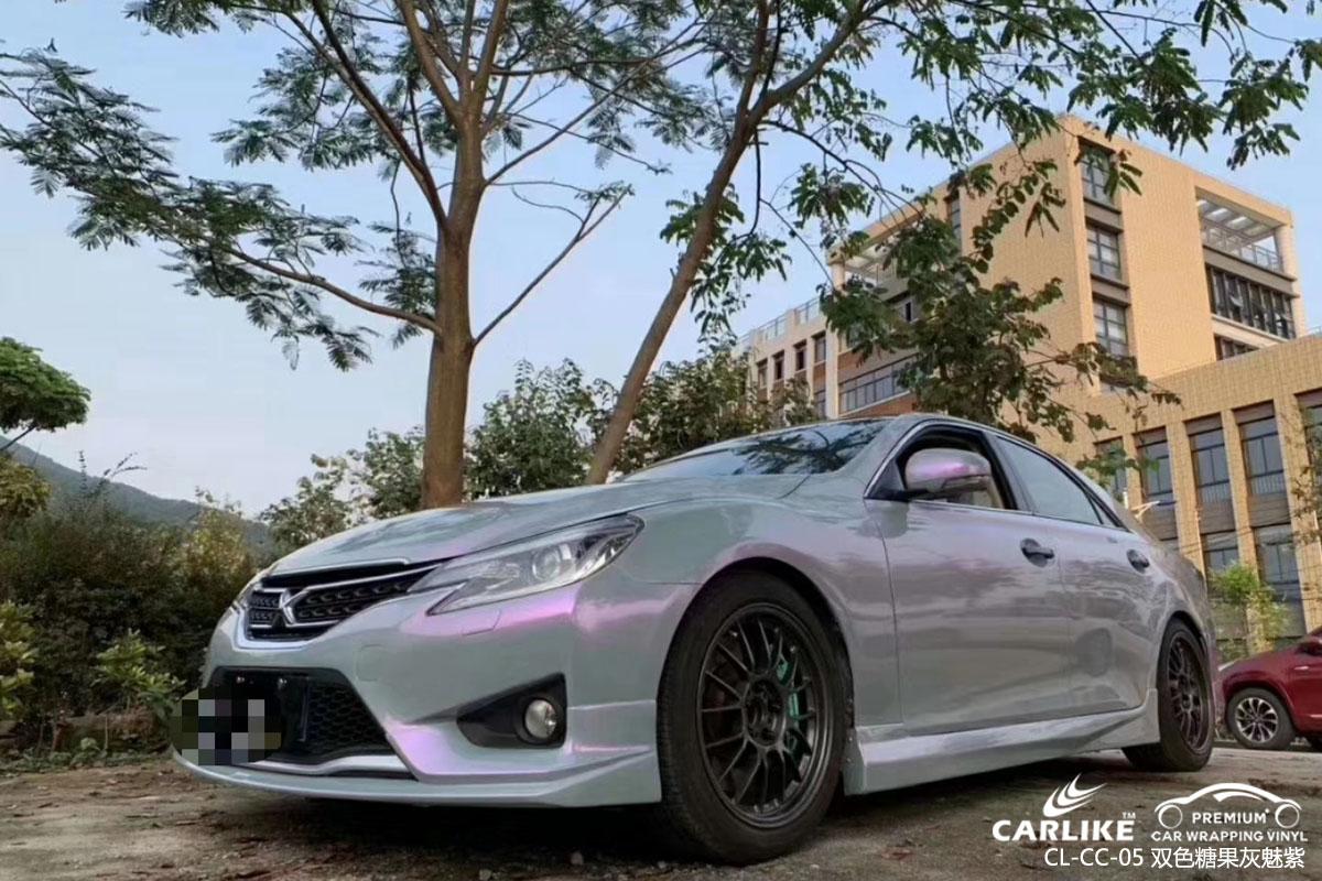 双色糖果灰魅紫汽车改色膜贴车效果图