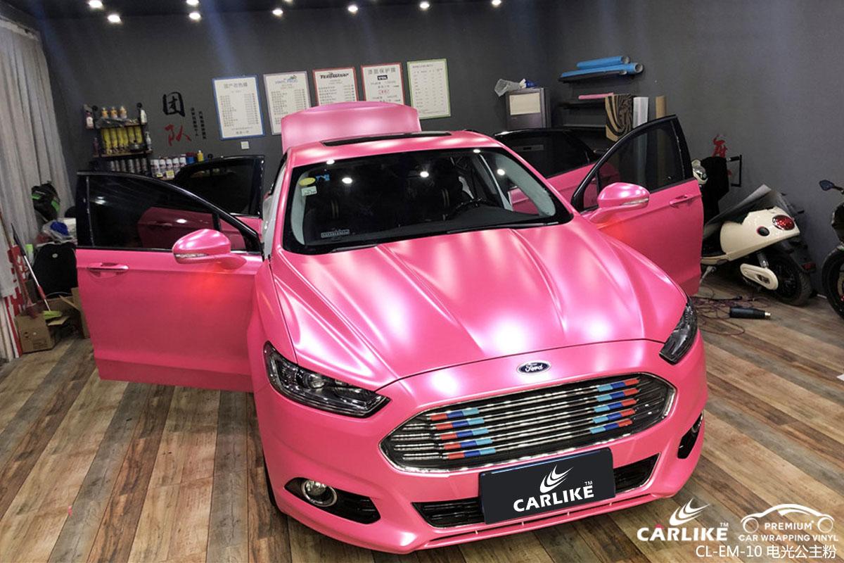 卡莱克电光公主粉改色贴车效果图