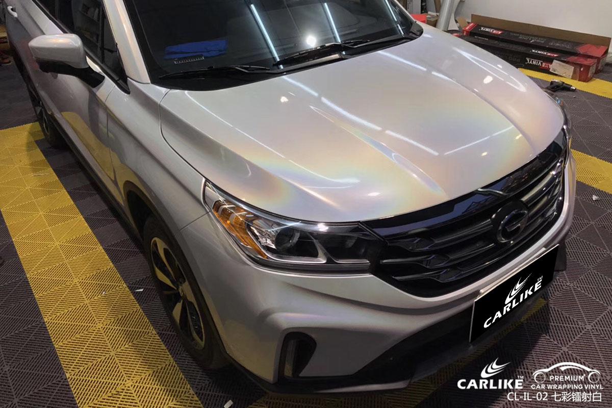 CARLIKE卡莱克™CL-IL-02广汽传祺七彩镭射白汽车改色膜