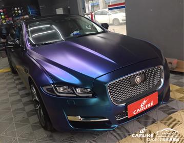 变色龙哑面紫魅蓝汽车改色膜贴车效果图