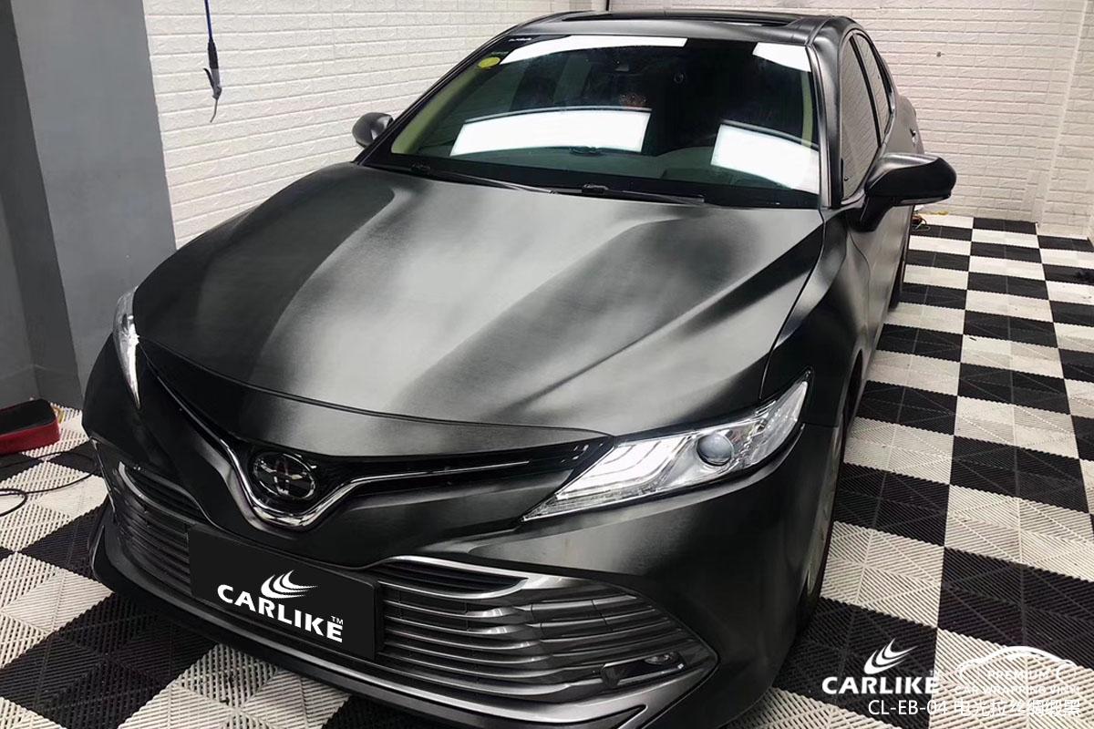 CARLIKE卡莱克™CL-EB-04丰田电光拉丝绸缎黑车身改色贴膜