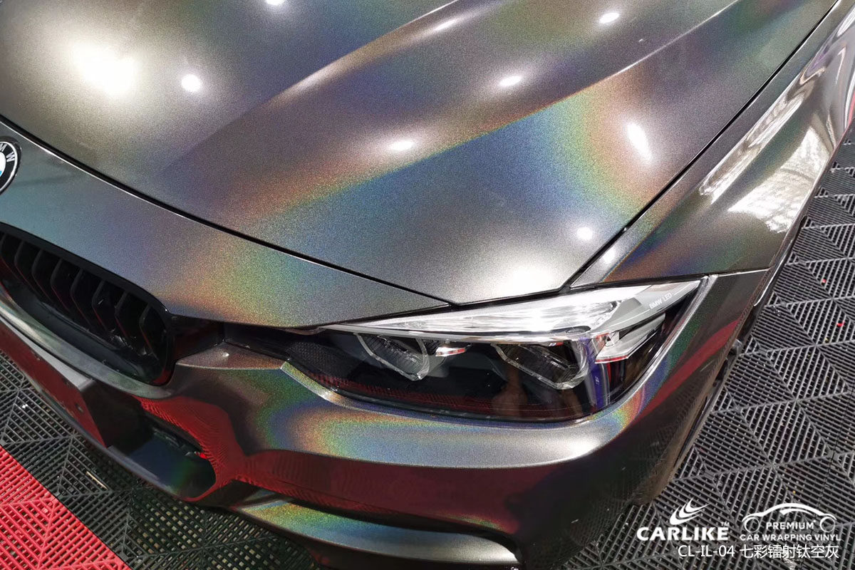 CARLIKE卡莱克™CL-IL-04宝马七彩镭射钛空灰整车改色膜