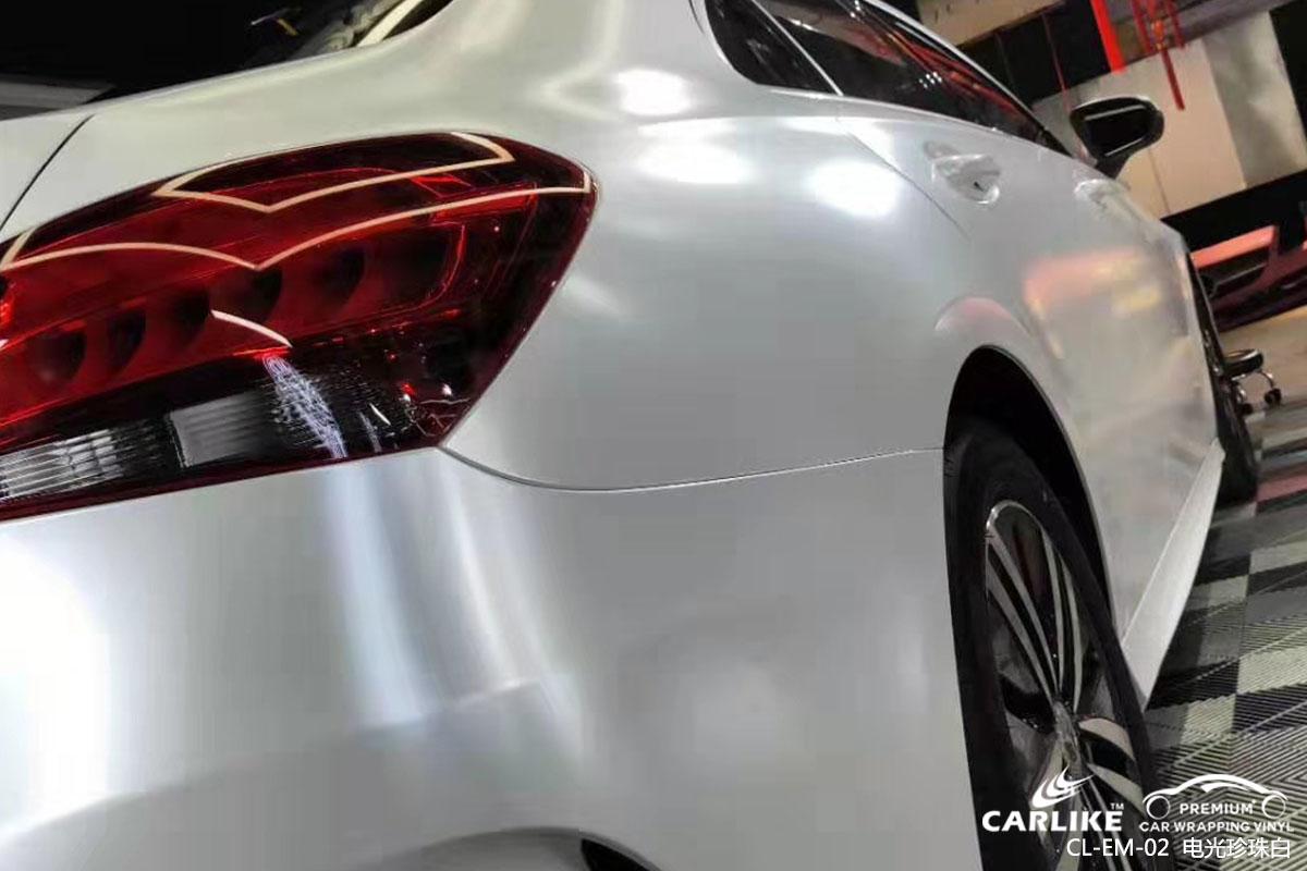 CARLIKE卡莱克™CL-EM-02奔驰金属电光珍珠白汽车贴膜