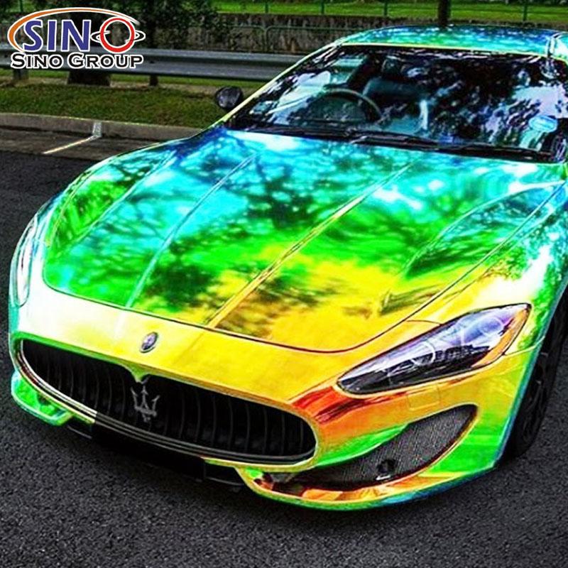 彩虹电镀汽车改色膜贴车效果图展示