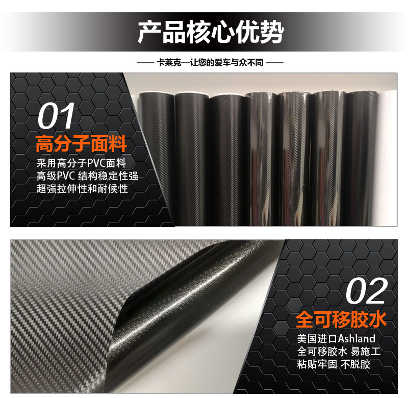卡莱克CL-5DCF 5D碳纤维改色膜