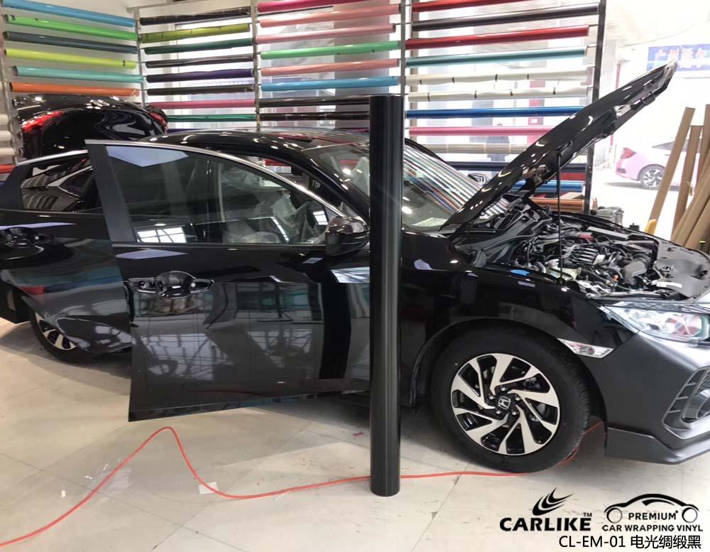 卡莱克™CL-EM-01本田思域金属电光绸缎黑汽车改色膜