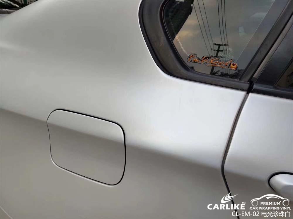 卡莱克™CL-EM-02宝马金属电光珍珠白整车改色膜