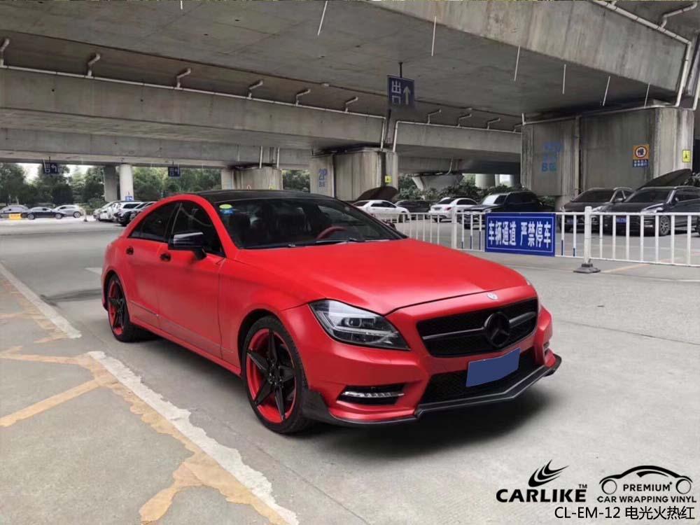 卡莱克电光系列之电光火热红改色贴车效果图