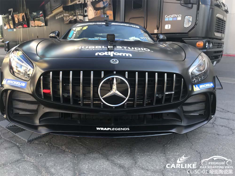 电镀陶瓷黑汽车改色膜贴车效果图