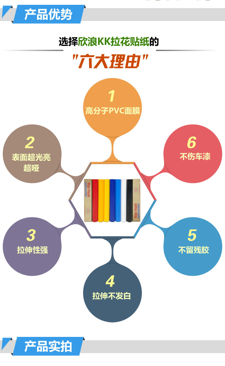 台湾皇冠KK车贴材料不干胶刻字汽车拉花贴纸