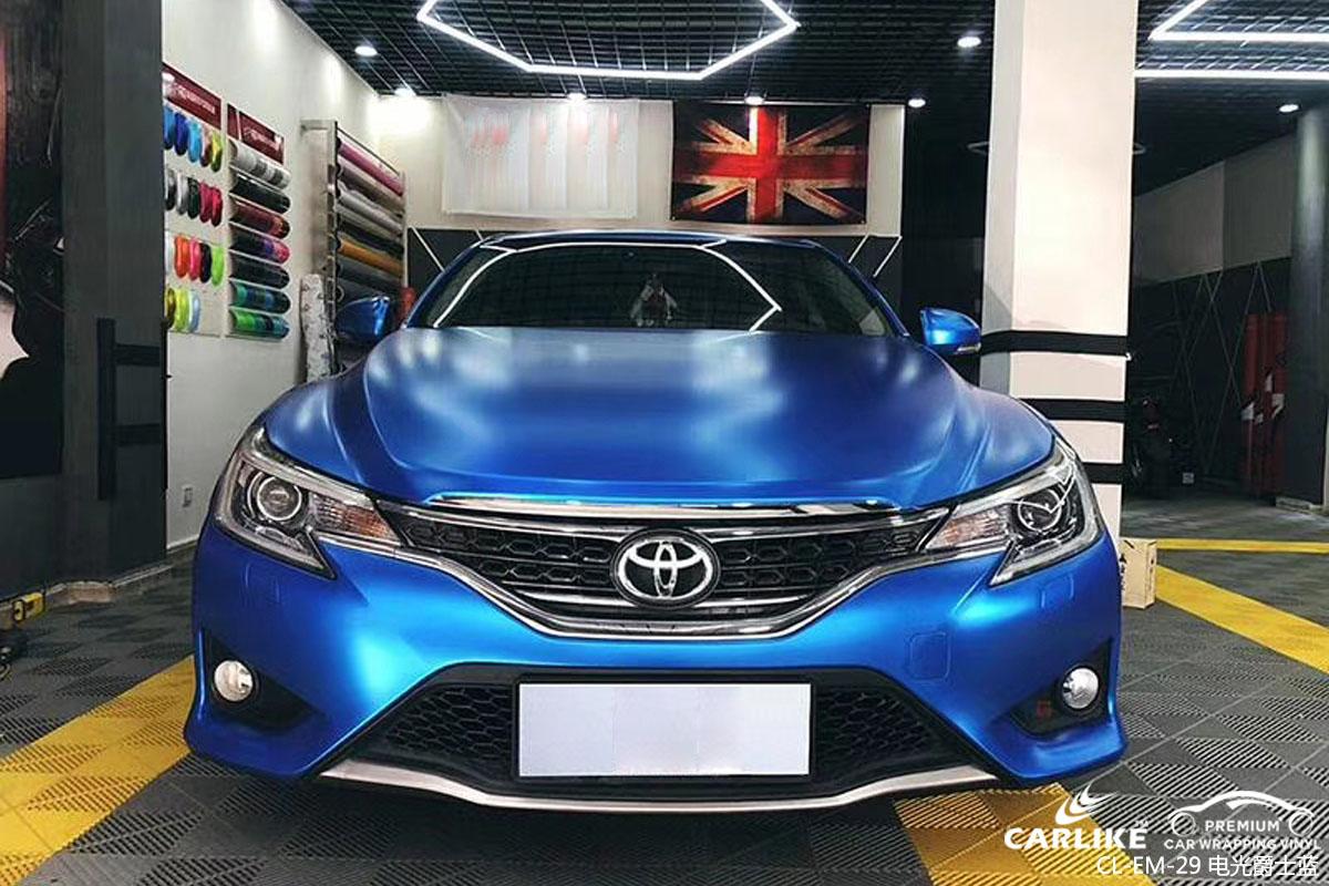 卡莱克电光系列之电光爵士蓝汽车改色效果图