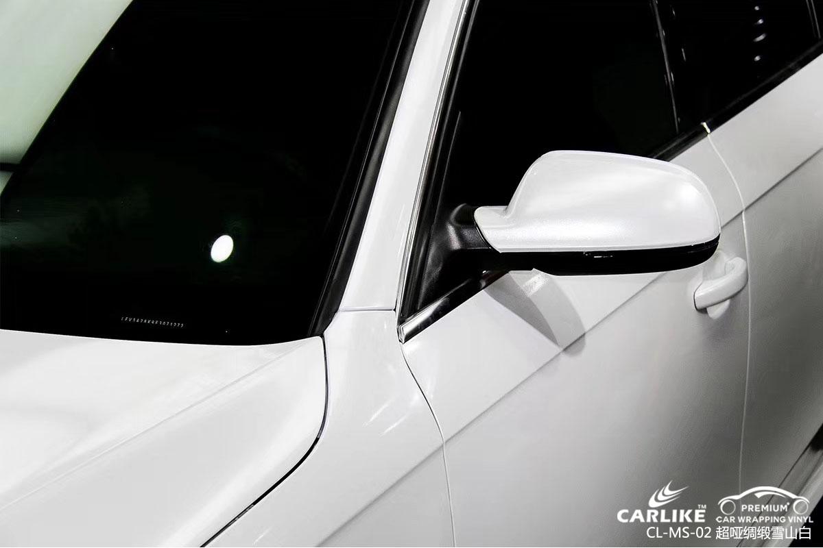 钻石水晶灰魅蓝汽车改色膜贴车效果图