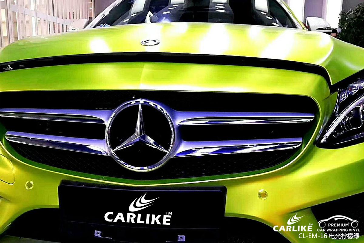 卡莱克电光系列之电光柠檬绿改色贴车效果图