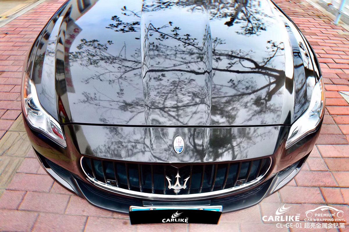 CARLIKE卡莱克™CL-GE-01玛莎拉蒂超亮金属金钻黑汽车改色膜