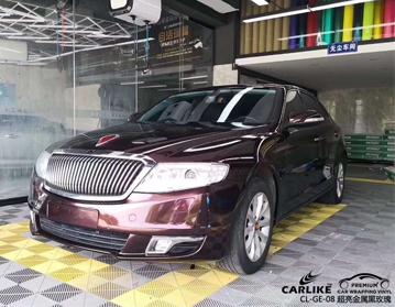 杭州汽车改色膜 CARLIKE卡莱克超亮金属黑玫瑰全车身贴膜