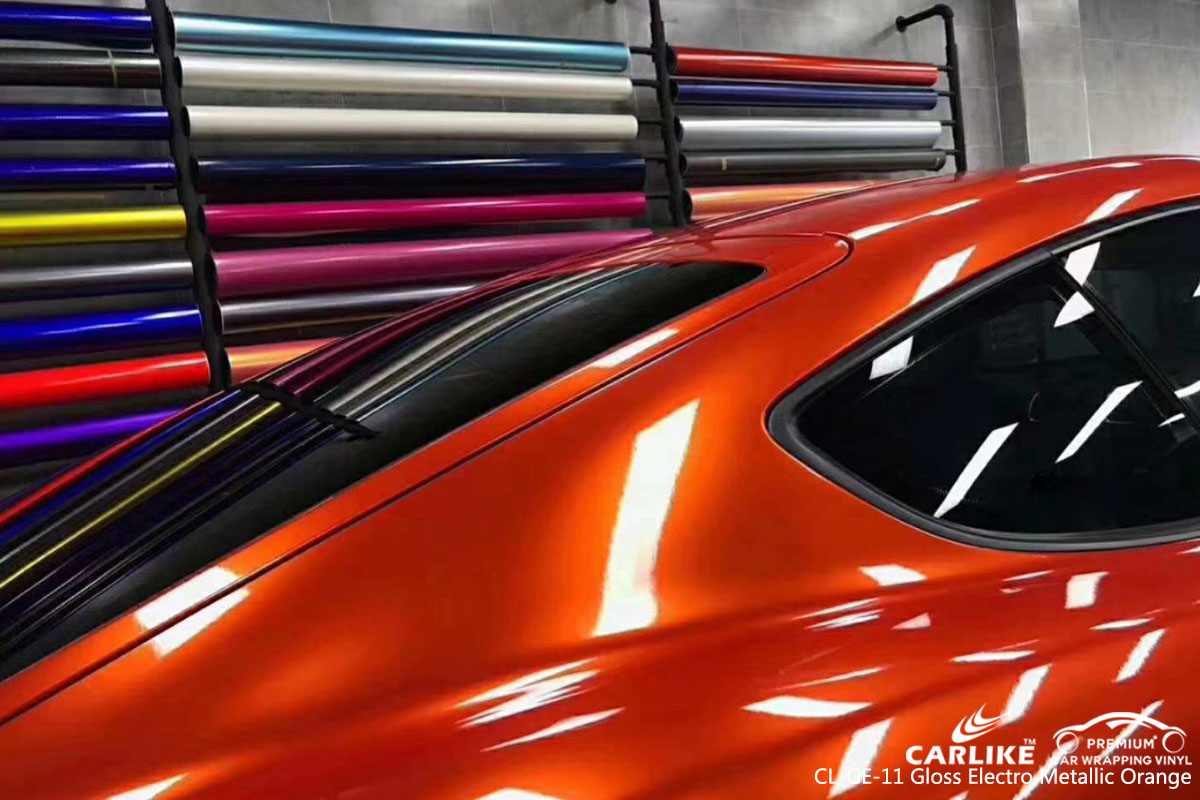 CARLIKE卡莱克™CL-GE-11保时捷超亮金属烈焰橙汽车改色膜