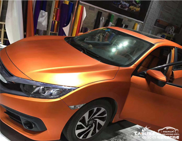 CARLIKE卡莱克™CL-SC-05本田电镀陶瓷烈焰橙车身改色膜