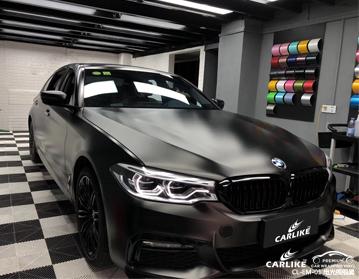 CARLIKE卡莱克™CL-EM-01宝马金属电光绸缎黑车身改色膜