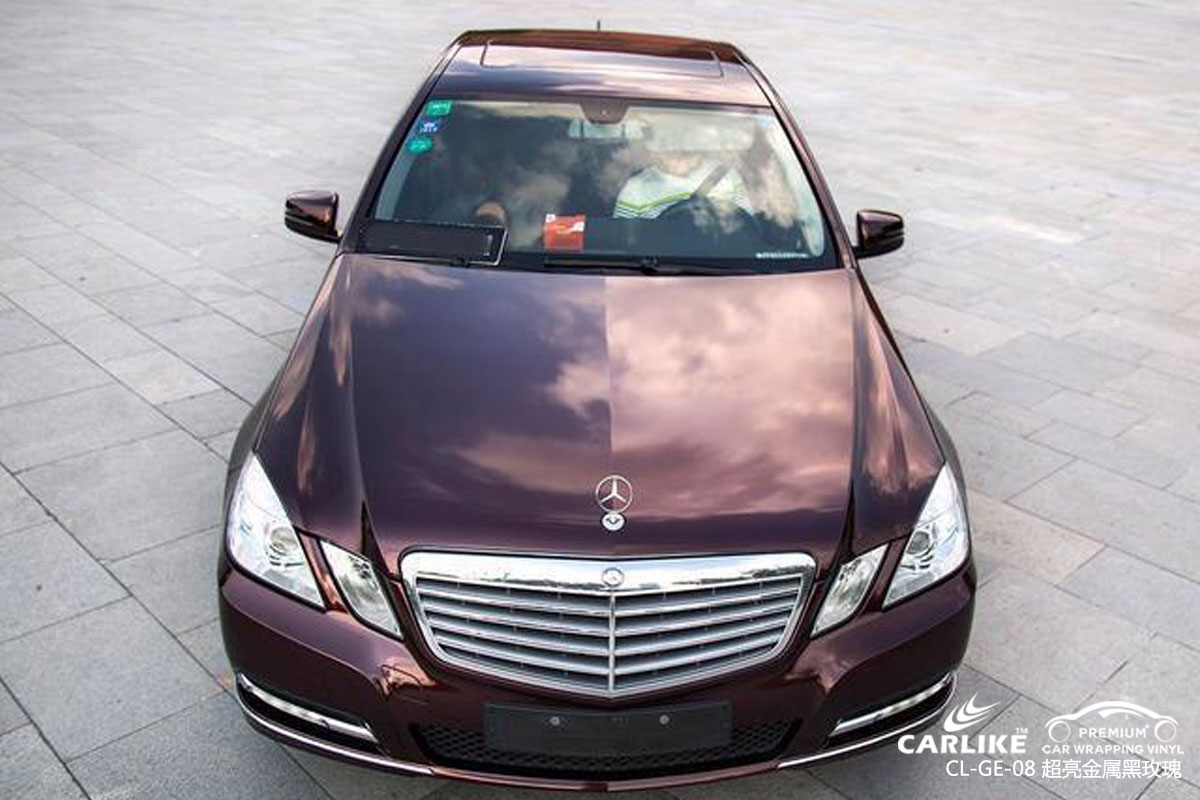CARLIKE卡莱克™CL-GE-08奔驰超亮金属黑玫瑰车身改色贴膜