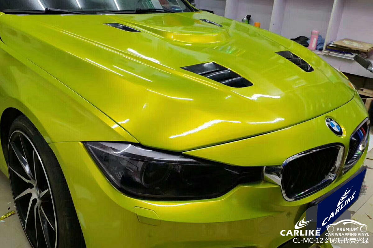 CARLIKE卡莱克™CL-MC-12宝马幻彩珊瑚荧光绿汽车改色膜