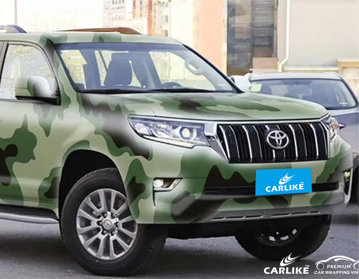 CARLIKE卡莱克™CL-CA丰田森林迷彩喷绘涂鸦整车改色贴膜