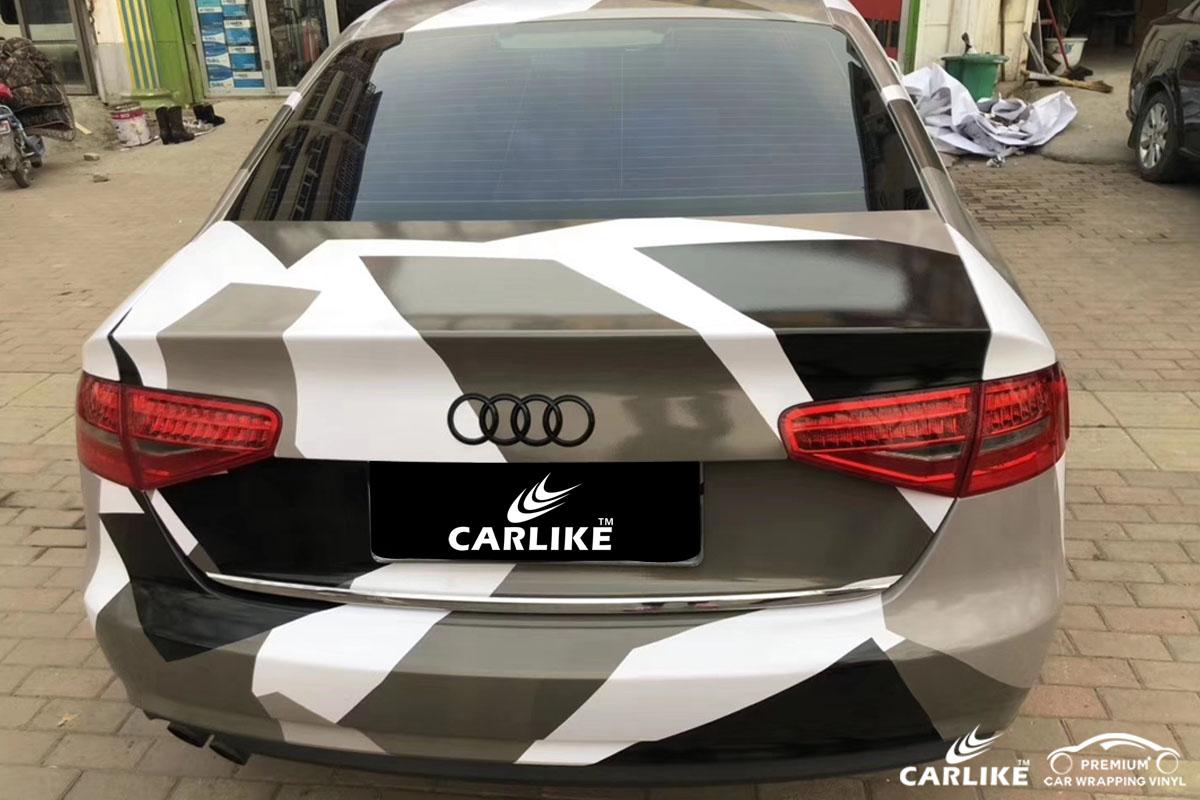 CARLIKE卡莱克™CL-CA奥迪黑白灰迷彩喷绘涂鸦汽车改色膜