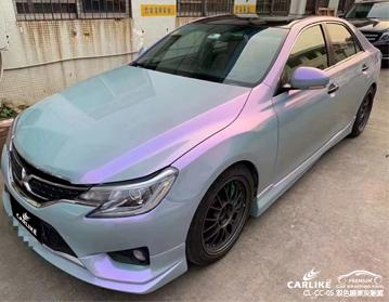 广州卡莱克贴膜双色糖果灰魅紫汽车改色效果图
