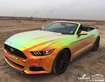 广州卡莱克车身贴膜彩虹电镀汽车整车改色效果图展示