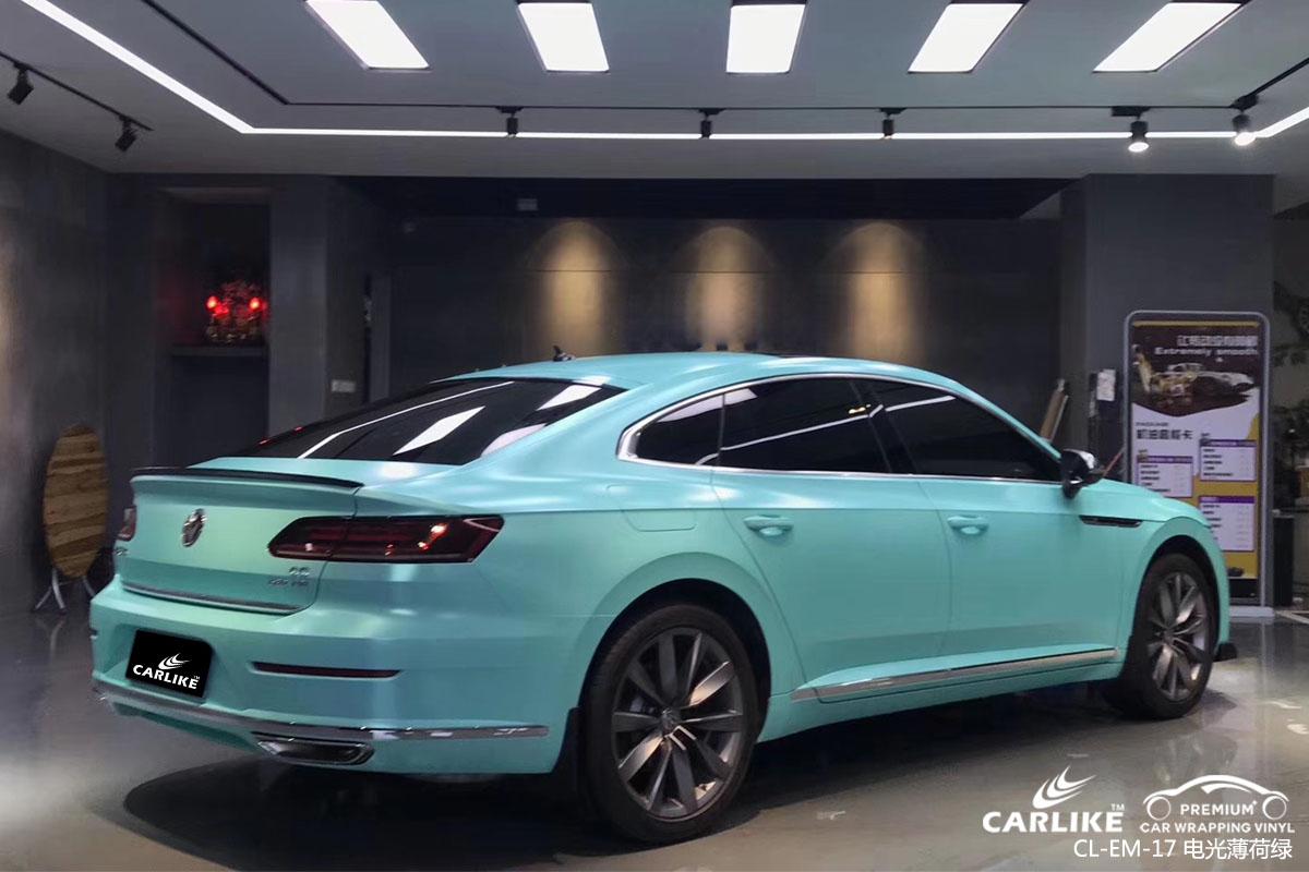 卡莱克电光系列之电光薄荷绿改色贴车效果图