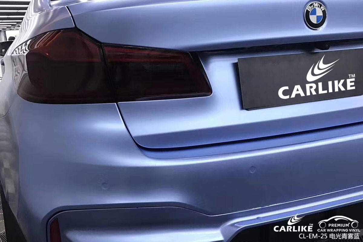 卡莱克电光青雾蓝汽车改色贴车效果图
