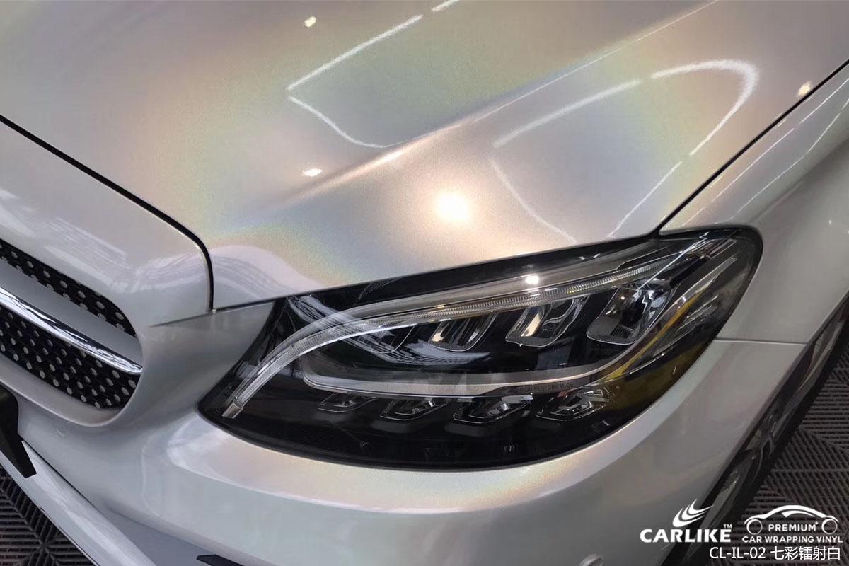 CARLIKE卡莱克™CL-IL-02奔驰七彩镭射白汽车改色膜