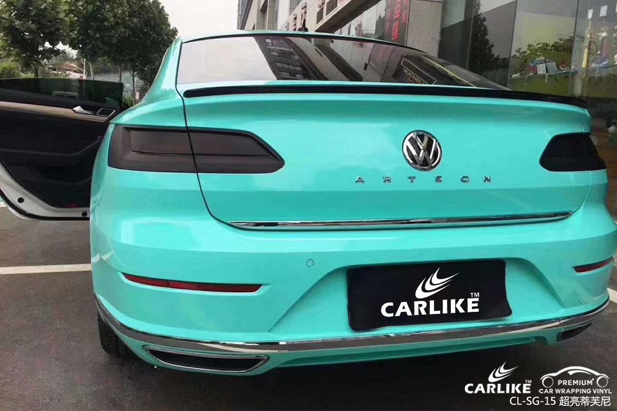 超亮蒂芙尼汽车改色膜贴车效果图
