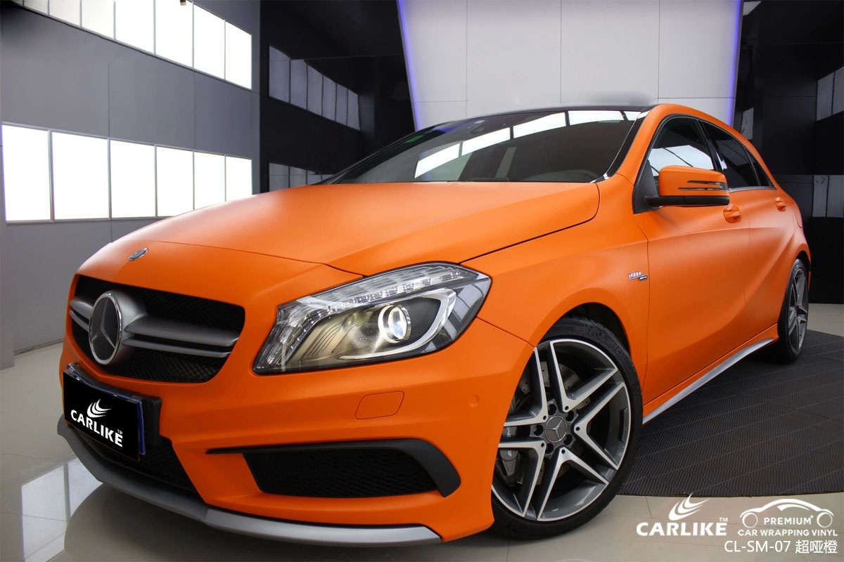 CARLIKE卡莱克™CL-SM-07奔驰超哑改色膜橙色车身贴膜