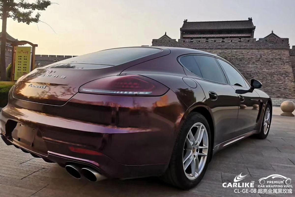 CARLIKE卡莱克™CL-GE-08保时捷超亮金属黑玫瑰车身改色贴膜