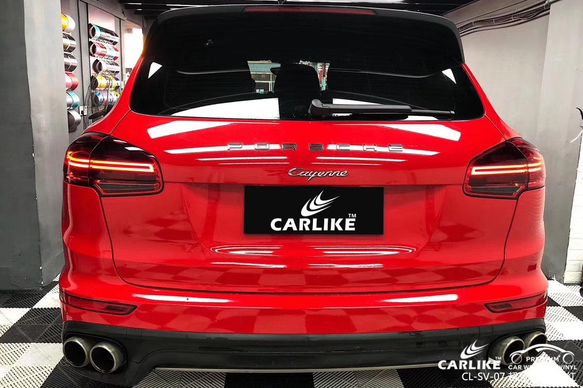CARLIKE卡莱克™CL-SV-07保时捷超亮水晶火热红车身改色膜