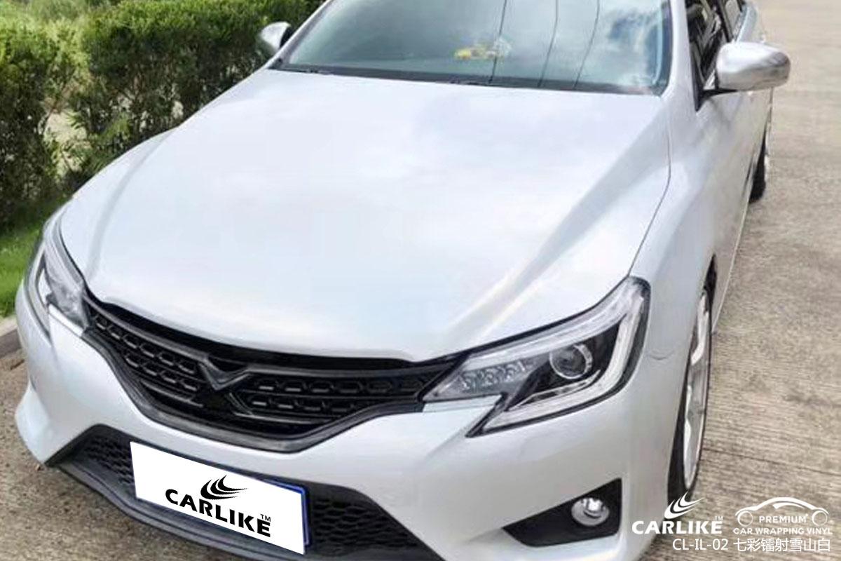 CARLIKE卡莱克™CL-IL-02丰田七彩镭射雪山白全车改色贴膜