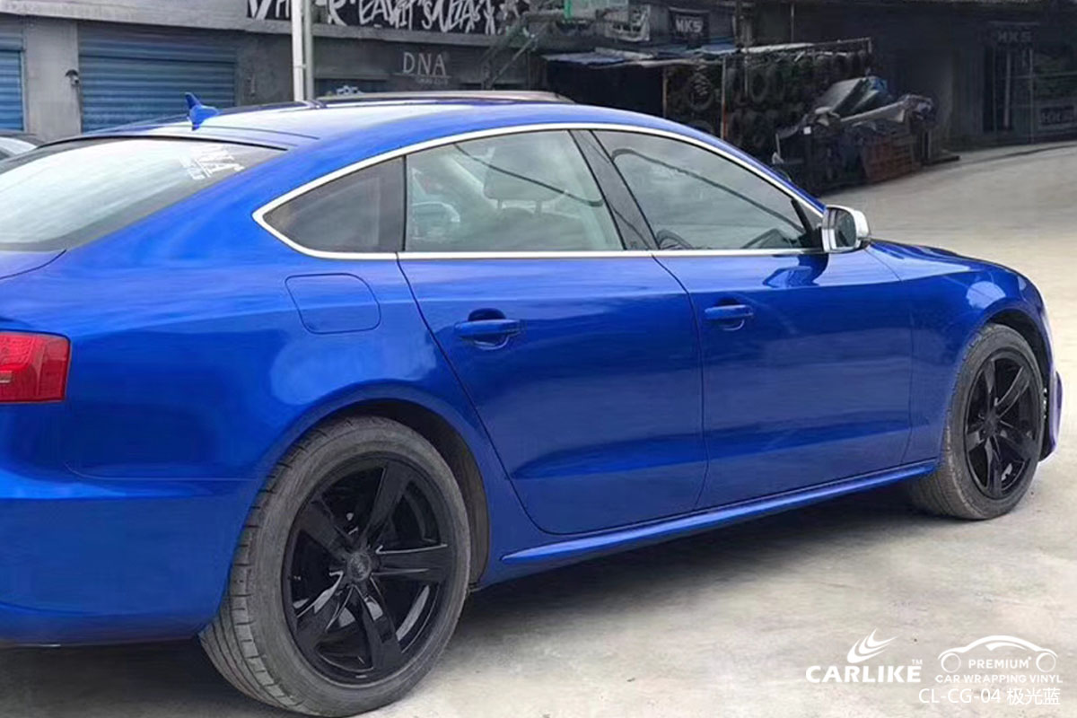 极光蓝汽车改色膜贴车效果图