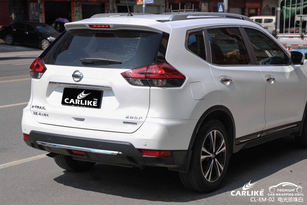 卡莱克电光珍珠白改色贴车效果图