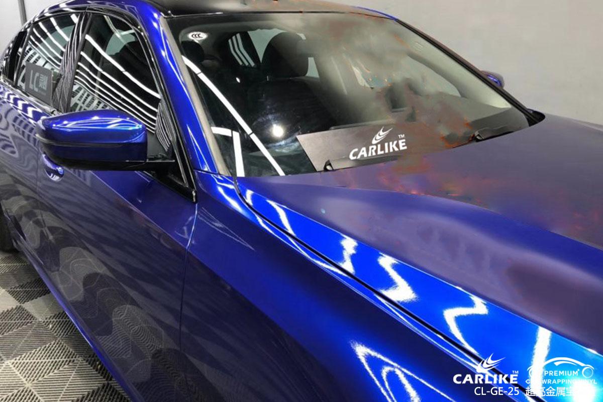 南平宝马整车改色超亮金属宝石蓝车身改色效果图