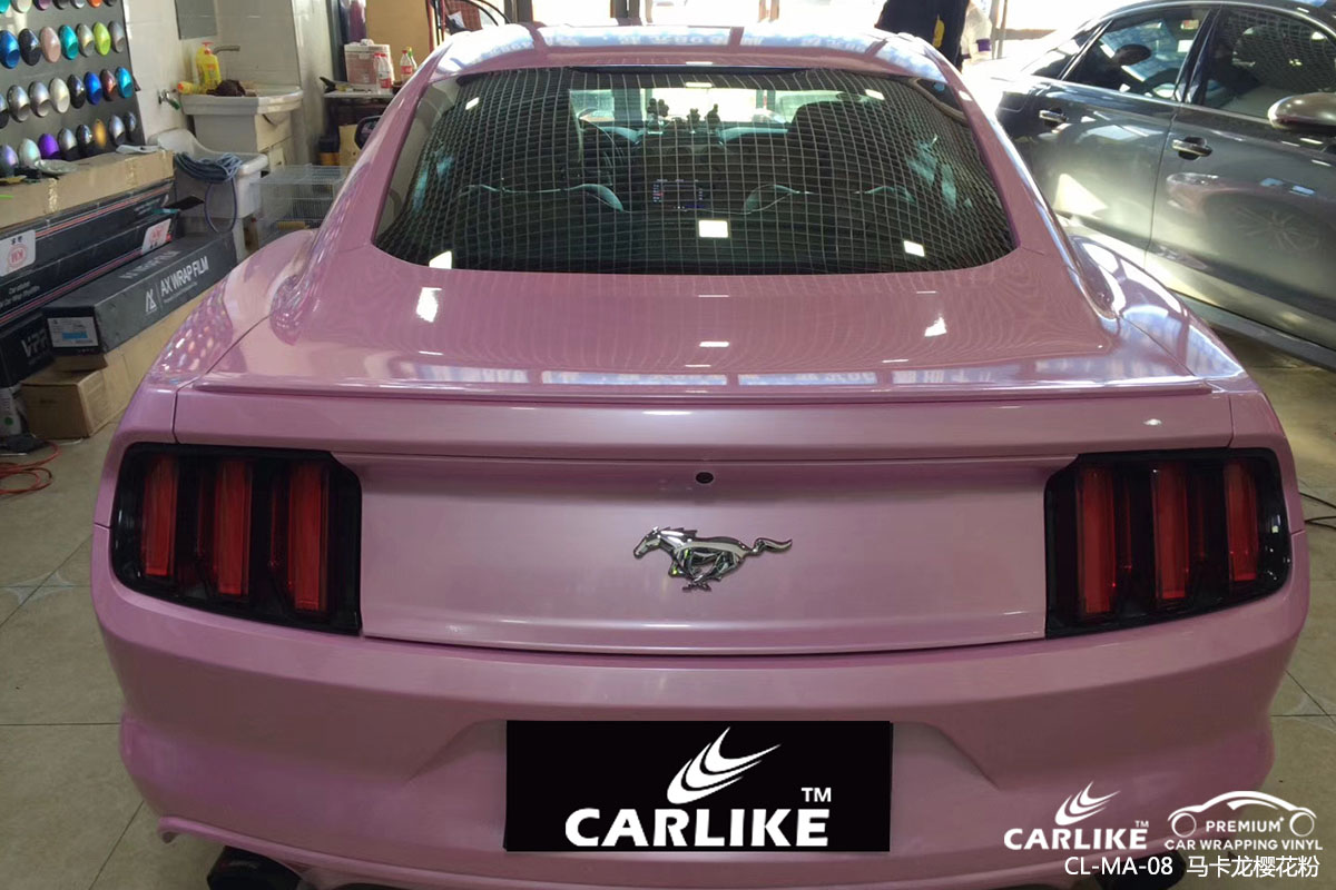 CARLIKE卡莱克™CL-MA-08野马马卡龙樱花粉车身改色贴膜