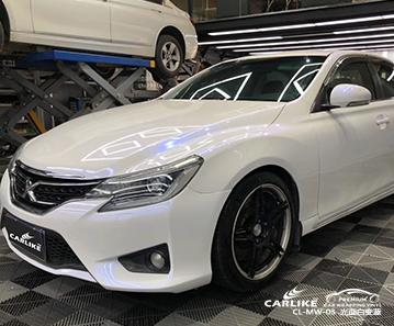 广州卡莱克汽车贴膜珠光幻彩白变色系列改色施工效果图展示