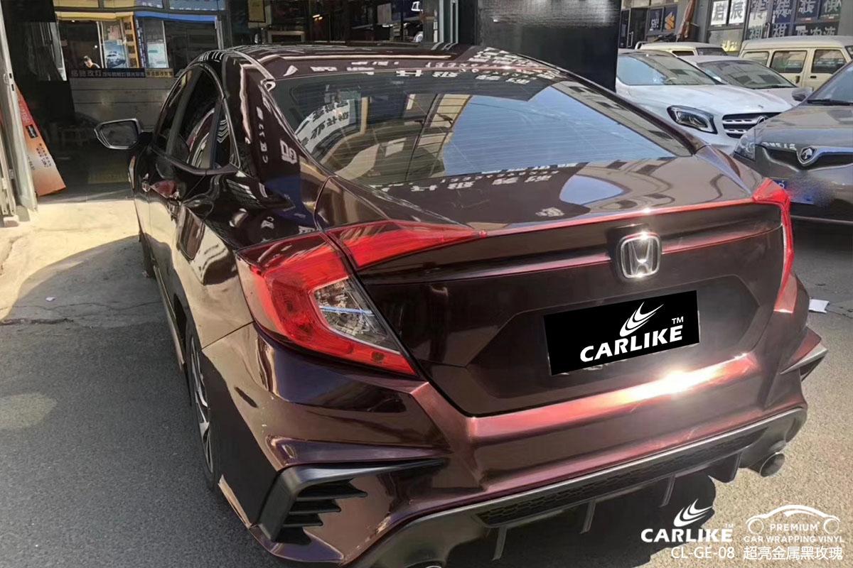 超亮金属黑玫瑰汽车改色膜改色贴车效果图