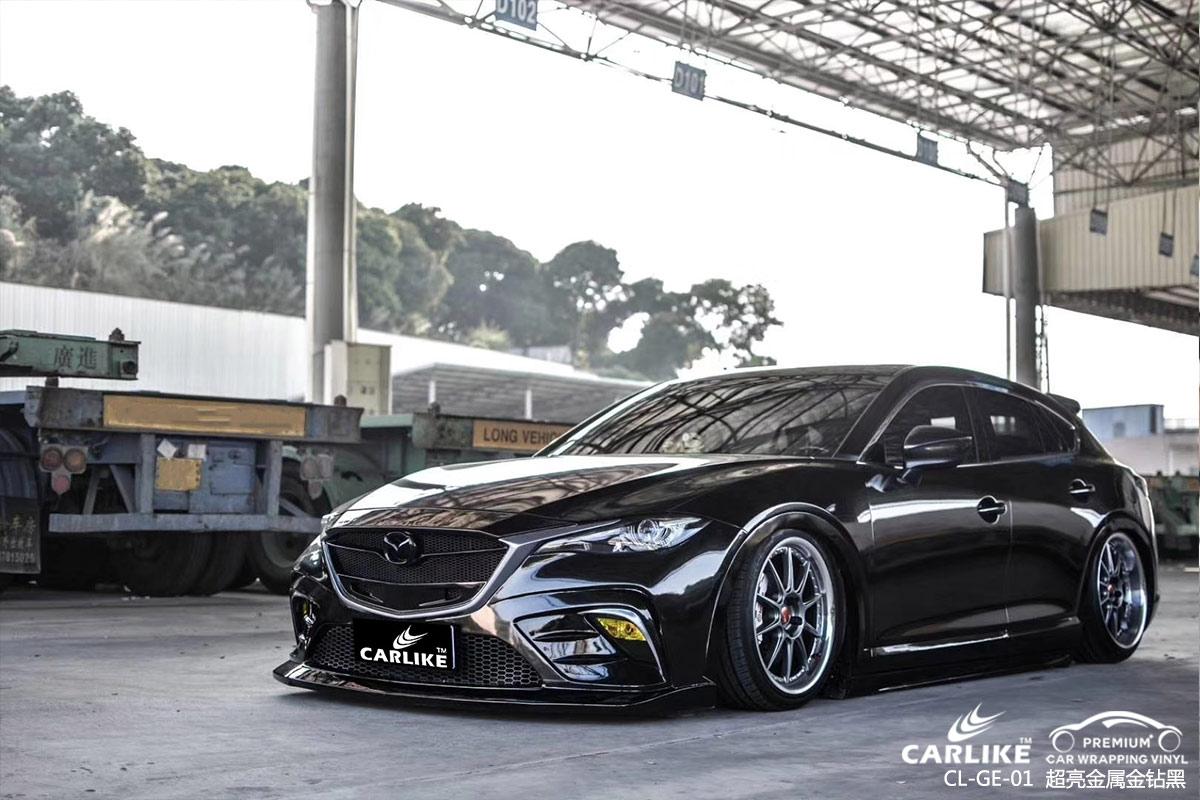 卡莱克超亮金属系列之超亮金属金钻黑改色贴车效果图