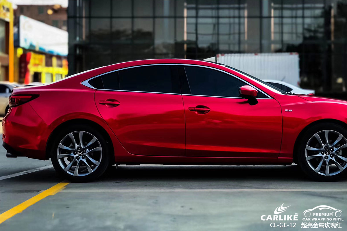 CARLIKE卡莱克™CL-GE-12马自达超亮金属玫瑰红车身改色