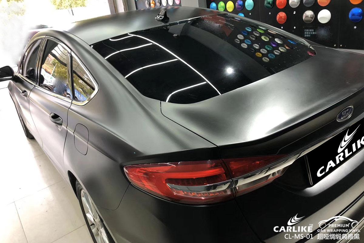 CARLIKE卡莱克™CL-MS-01福特超哑绸缎典雅黑车身改色