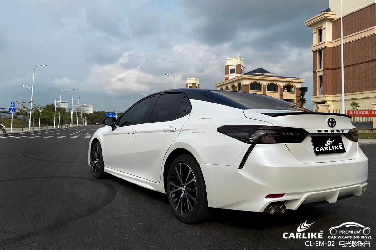 CARLIKE卡莱克™CL-EM-02哈佛电光珍珠白全车贴膜