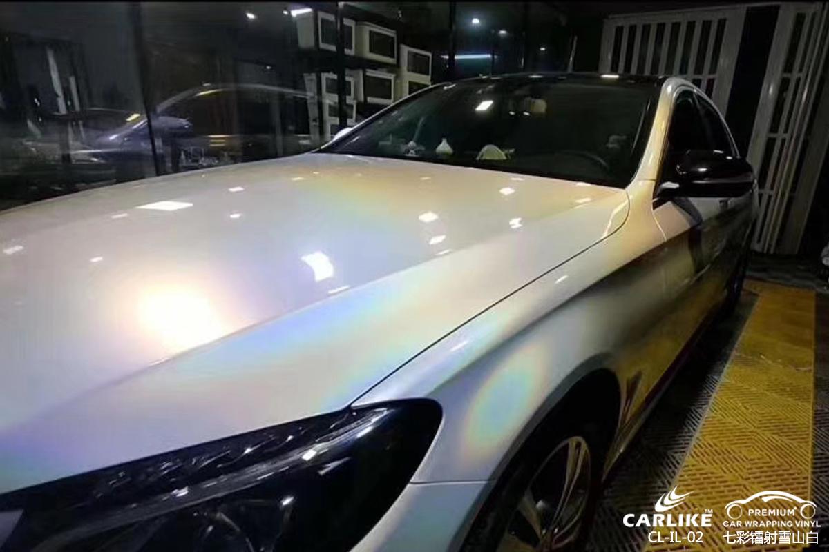 CARLIKE卡莱克™CL-IL-02奔驰七彩镭射雪山白汽车改色